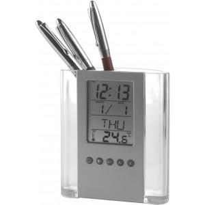 Időjárásjelző, óra és tolltartó